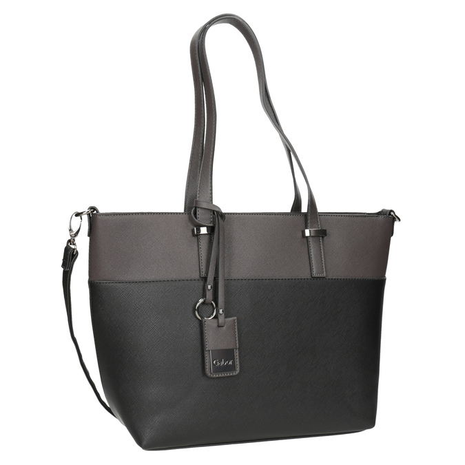 Dámska kabelka s popruhom gabor-bags, šedá, 961-2037 - 13