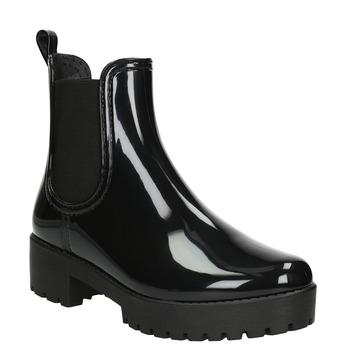 Lakované dámske gumáky bata, čierna, 592-6400 - 13