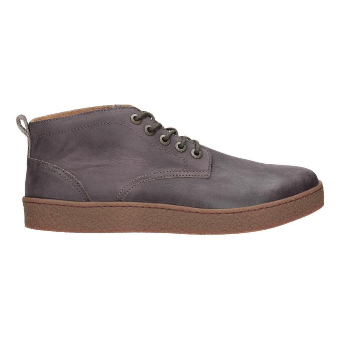 Kožená pánska členková obuv bata, hnedá, 846-4652 - 26