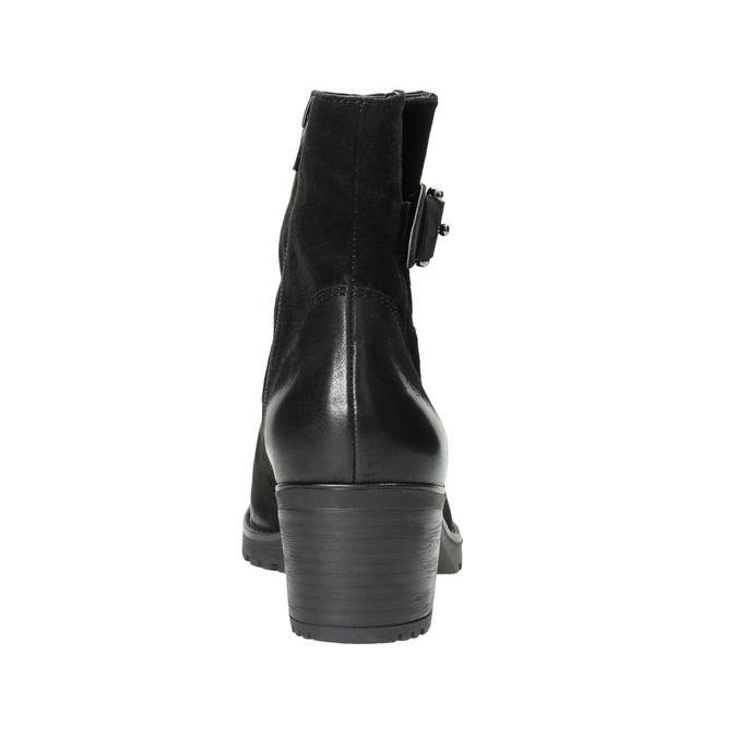 Kožené členkové čižmy s prackou bata, čierna, 696-6621 - 17