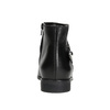 Kožená čierna členková obuv bata, čierna, 596-6669 - 16