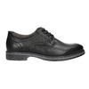 Pánske kožené Derby poltopánky bata, čierna, 824-6926 - 15