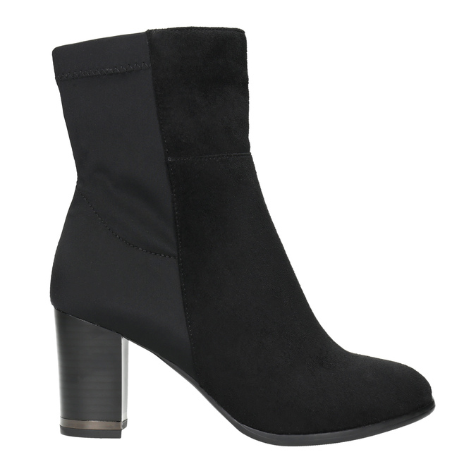 Členkové čižmy na podpätku bata, čierna, 699-6636 - 15