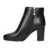 Členková obuv na podpätku bata, čierna, 691-6634 - 19