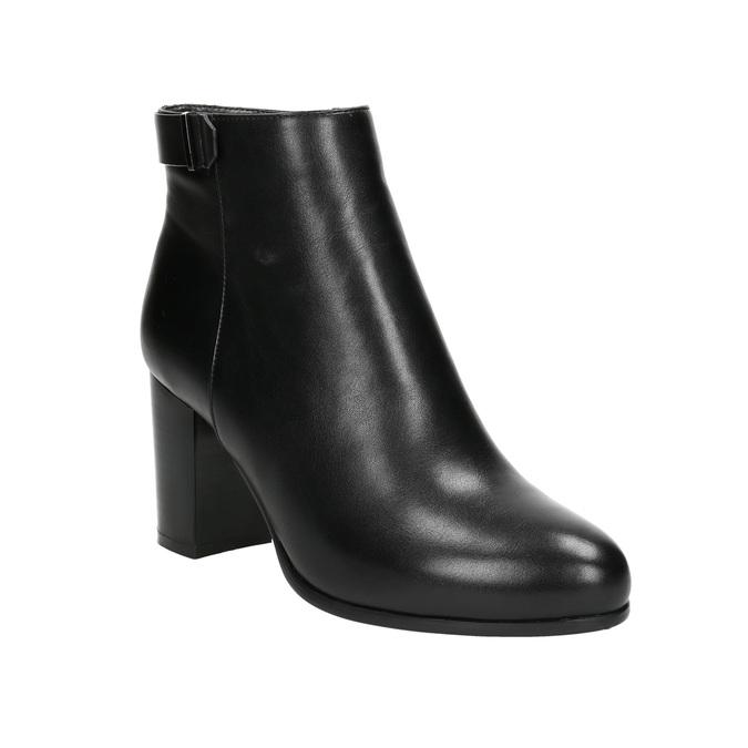 Členková obuv na podpätku bata, čierna, 691-6634 - 13