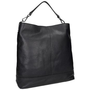 Kožená čierna Hobo kabelka bata, čierna, 964-6261 - 13