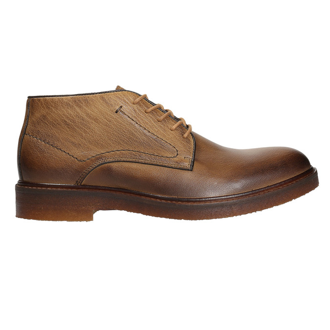 Pánske kožené Chukka Boots bata, hnedá, 826-2919 - 26