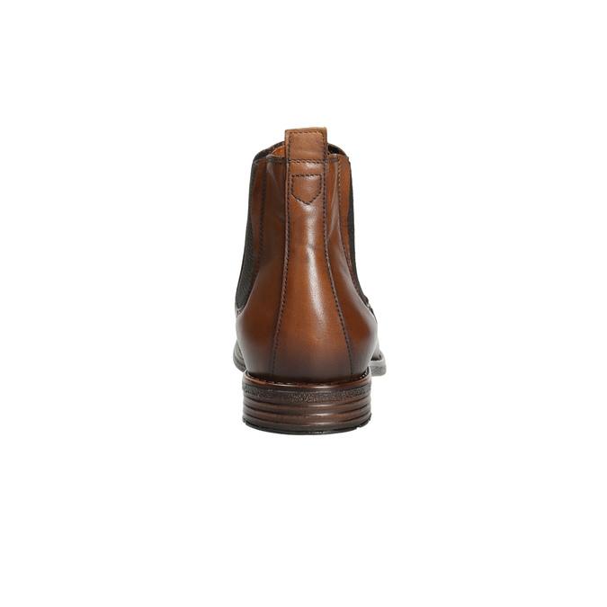 Hnedé kožené Chelsea Boots bata, hnedá, 896-3673 - 17