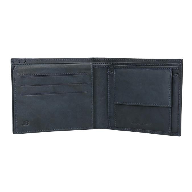 Pánska modrá kožená peňaženka bata, modrá, 944-9183 - 16