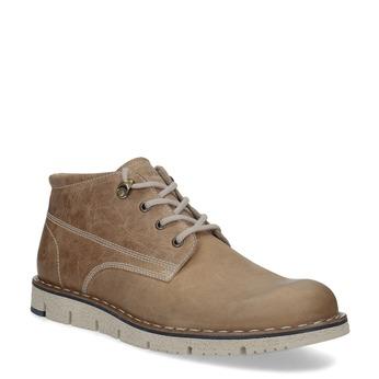 Kožená členková obuv na výraznej podrážke weinbrenner, hnedá, 846-4658 - 13