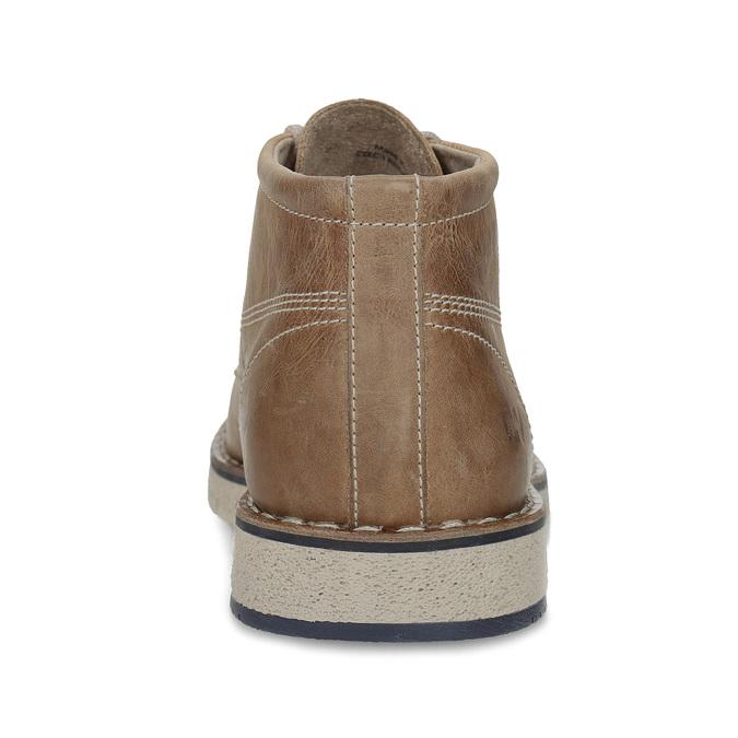 Kožená členková obuv na výraznej podrážke weinbrenner, hnedá, 846-4658 - 15