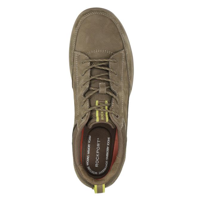 Ležérne tenisky z brúsenej kože rockport, hnedá, 826-3021 - 15