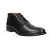 Kožená pánska členková obuv bata, čierna, 824-6913 - 13