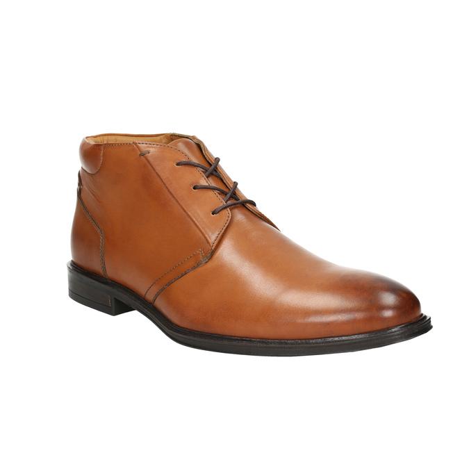 Pánska kožená Ombré obuv bata, hnedá, 826-3913 - 13