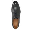 Kožené poltopánky s modrým prešitím bata, čierna, 826-6915 - 26