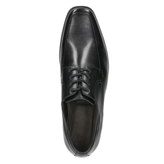 Čierne kožené poltopánky bata, čierna, 824-6600 - 26