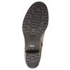 Kožené členkové čižmy s prackou bata, šedá, 696-2621 - 26
