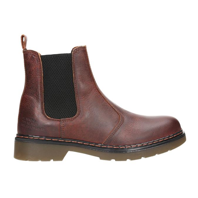 Kožená dámska Chelsea obuv bata, hnedá, 596-3680 - 26