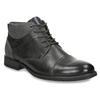Kožená členková obuv so štruktúrou bata, šedá, 826-2616 - 13