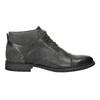 Kožená členková obuv so štruktúrou bata, šedá, 826-2616 - 15