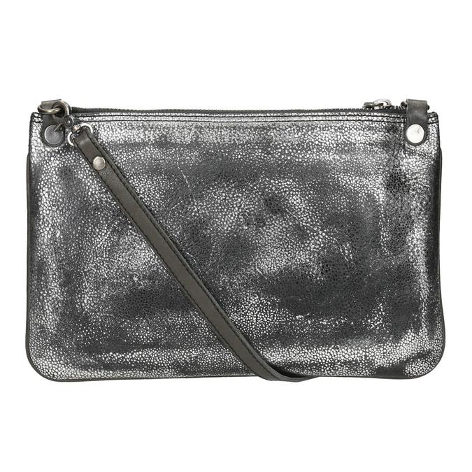 Kožená dámska listová kabelka so štruktúrou bata, strieborná, 964-1141 - 26