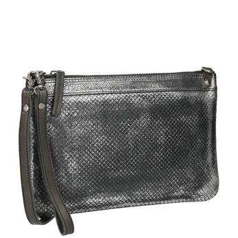 Kožená dámska listová kabelka so štruktúrou bata, biela, 964-1141 - 13