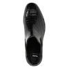 Kožená dámska Chelsea obuv so štruktúrou bata, čierna, 596-6678 - 26