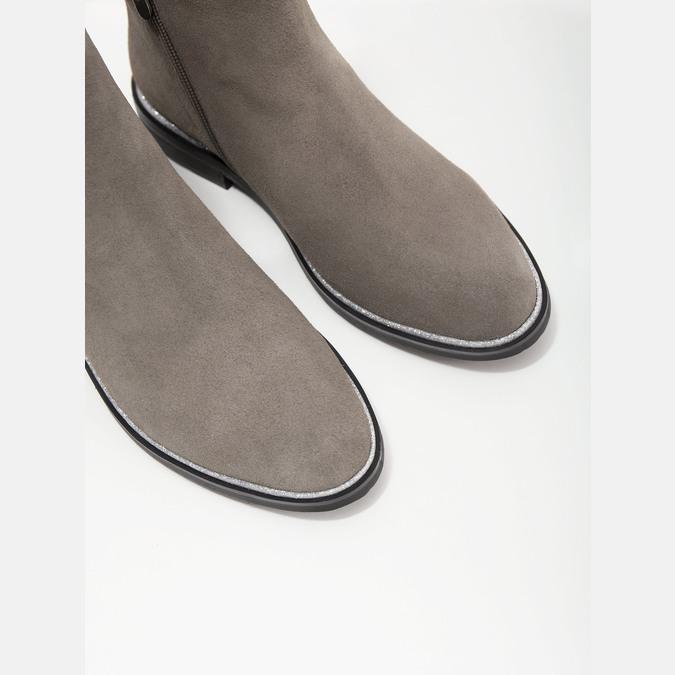 Členková obuv z brúsenej kože bata, šedá, 593-2603 - 14