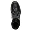 Kožená dámska členková obuv bata, čierna, 594-6681 - 15