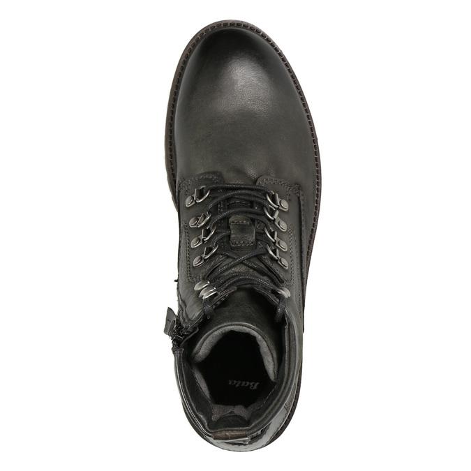 Členková kožená obuv bata, šedá, 896-2663 - 26