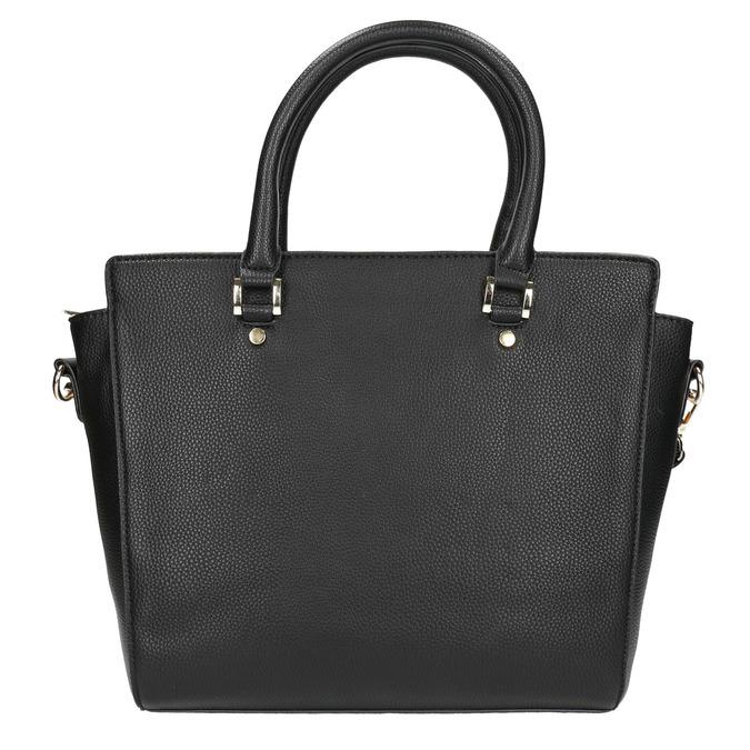 Čierna dámska kabelka s popruhom bata, čierna, 961-6822 - 17