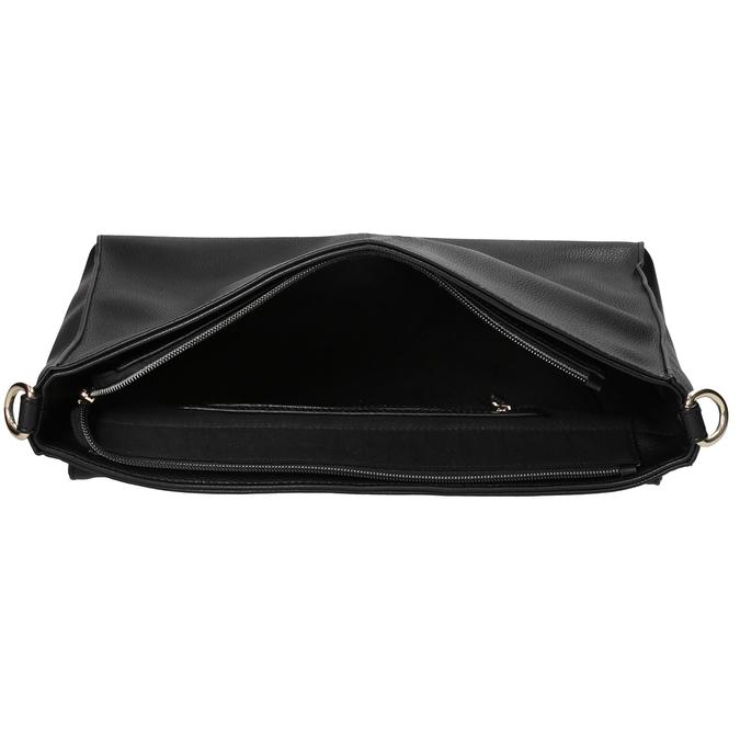 Dámska listová kabelka s retiazkou bata, čierna, 961-6164 - 15