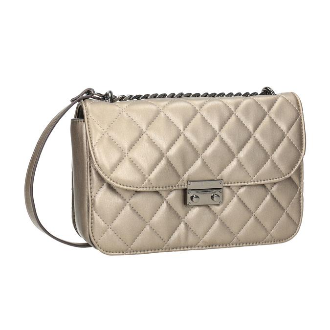 Prešívaná Crossbody kabelka bata, hnedá, 961-4141 - 13