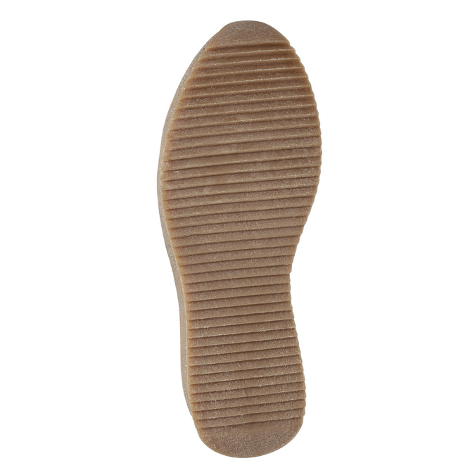 Kožená členková obuv so šnurovaním bata, čierna, 596-6673 - 17
