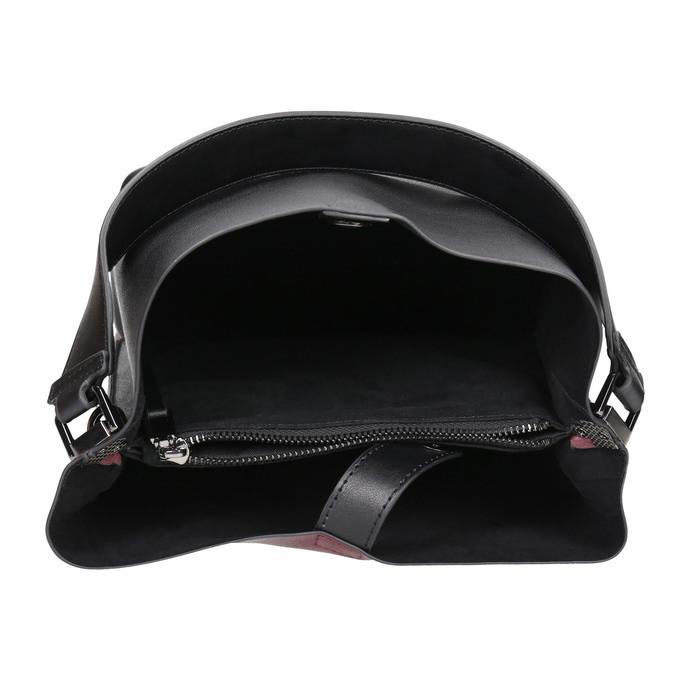 Dámska dvojfarebná kabelka bata, čierna, 961-6173 - 15