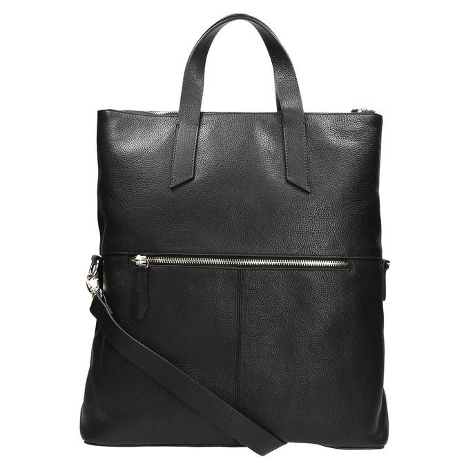 Čierna kožená kabelka bata, čierna, 964-6280 - 26