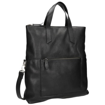 Čierna kožená kabelka bata, čierna, 964-6280 - 13