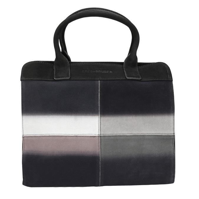 Kožená kabelka s Ombré efektom fredsbruder, čierna, 966-6056 - 26