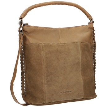 Kožená kabelka s prepletením fredsbruder, hnedá, 963-3005 - 13
