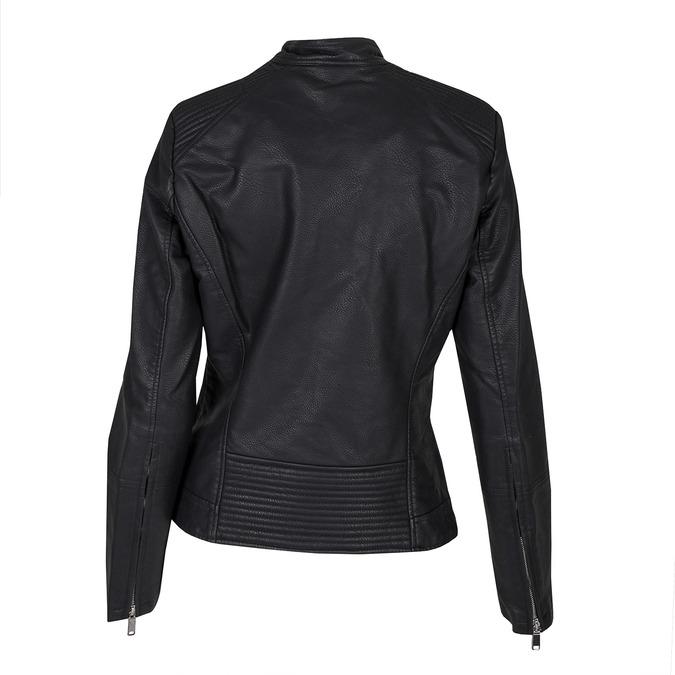Koženková dámska bunda bata, čierna, 971-6203 - 26