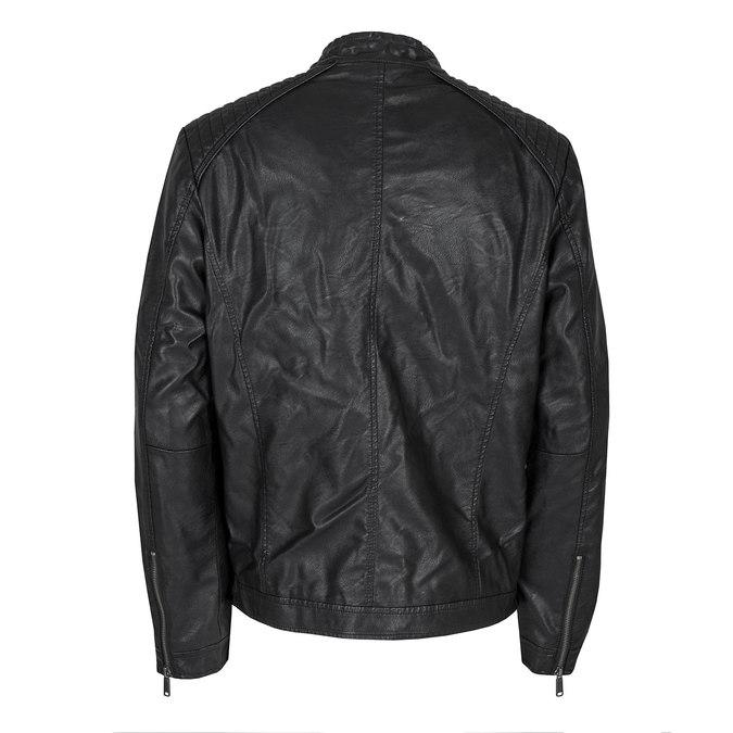 Pánska bunda s prešitím bata, čierna, 971-6103 - 26