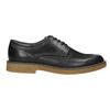 Pánske kožené Derby poltopánky bata, čierna, 826-6620 - 15