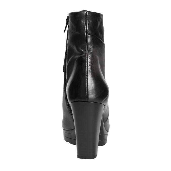Kožená členková obuv na podpätku bata, šedá, 796-2650 - 16