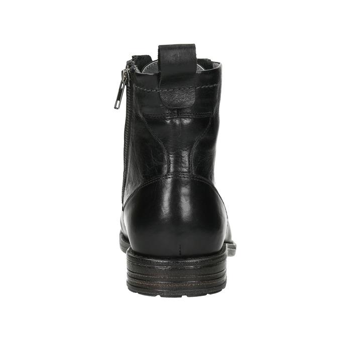 Pánska kožená členková obuv bata, čierna, 896-6690 - 16