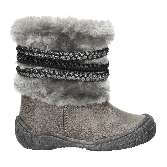 Detská zimná obuv s kožúškom bubblegummers, šedá, 191-2620 - 15