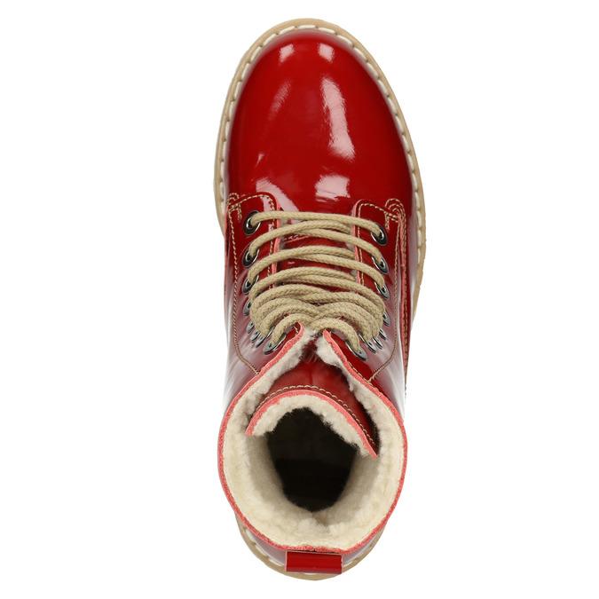 Dámska lakovaná obuv s masívnou podrážkou weinbrenner, červená, 598-5604 - 15