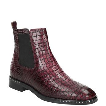 Kožená dámska Chelsea obuv bata, červená, 596-5678 - 13