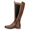 Hnedé kožené čižmy bata, hnedá, 594-4637 - 17