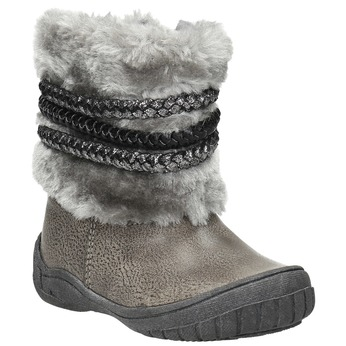 Detská zimná obuv s kožúškom bubblegummers, šedá, 191-2620 - 13