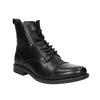 Pánska kožená členková obuv bata, čierna, 896-6690 - 13